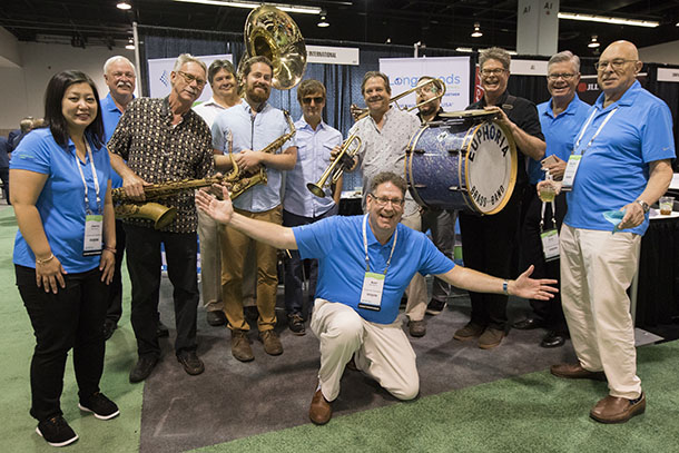 Longwoods International flash mob band at the 2018 Annual Convention