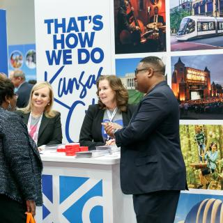 Kansas City booth staff at the 2018 Destination Showcase