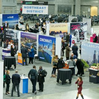 2020 Destination Showcase show floor
