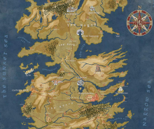 Map of Westeros | Game of Thrones