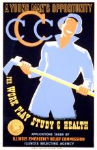 Civilian Conservation Corps promotional poster