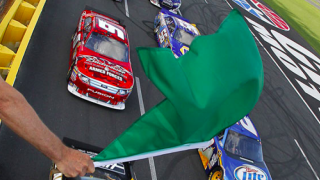 Cabarrus County Racing Green Flag